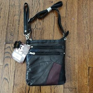 Stone mountain leather handbag